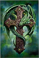 dragon with cross